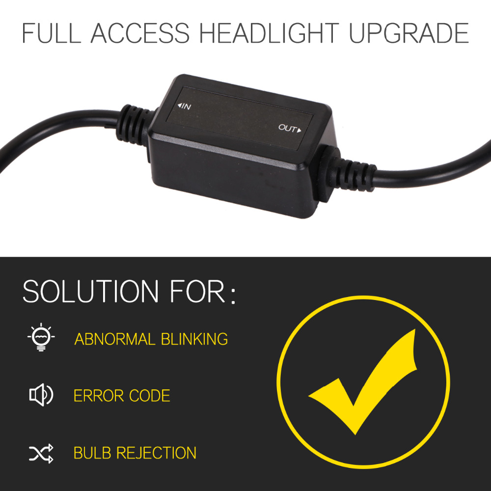 hight resolution of  auxmart car headlight h4 h7 led bulb h8 h11 h13 hb3 9005 hb4 9006 canbus wiring