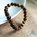 Natural Tiger Eye Bracelets A Grade natural Tiger's eye rock maded beads Bracelet  Brand Bangles Men/women 2016 New Pulseras