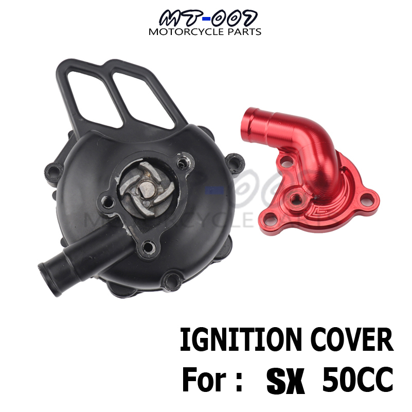 Couvercle d'allumage de moto pour 50 SX 2006-2008 refroidisseur d'eau moteur pompe essieu SX Pro JR LC 2002-05 SX PRO SR tuyau d'admission de CNC