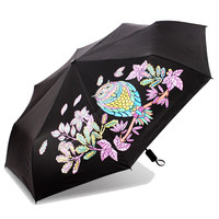 For Paradise Elegant Lady S Uv Umbrella Triple Folding Umbrella Extra Strength Parasols
