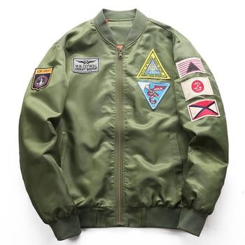 DIMUSI Bomber Jacket Mens  Ma-1 Flight Jacket Pilot Air Force Male Ma1 Army Green Military motorcycle Jacket and Coats 6XL,TA039 2