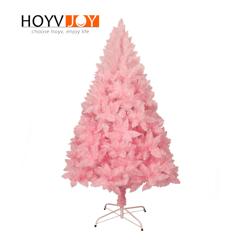 Pink Christmas Lights.Us 282 0 Hoyvjoy 150cm Flocking Pink Christmas Tree Mini Tree New Year Decorations With Led Light And Small Decorations Wholesale Custom In Trees