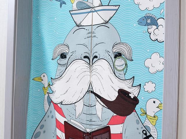 Sailor Walrus Door Curtains 4