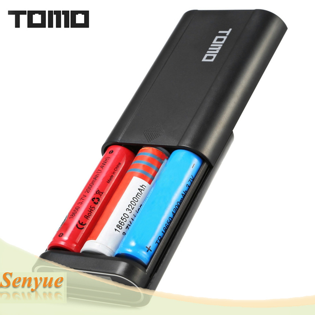 [Genuine] TOMO M3 DIY Dual-use 3 x 18650 Li-ion Battery Smart Power Charger with LCD Display Screen Dual Outputs