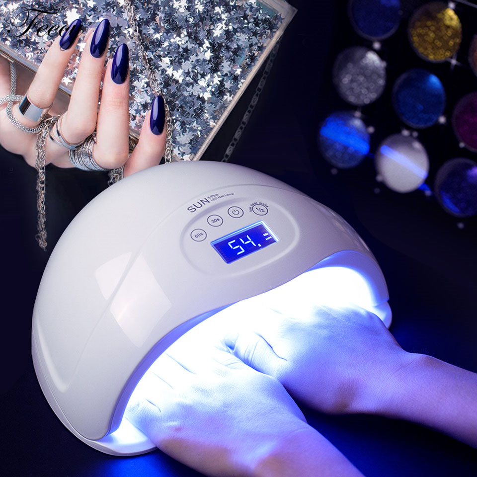 UV LED Nail Lamps Dryers Auto Sensing Machine Cure UV Gel LCD Time Display Motion 48W Dryer For Curing Gel Polish Nail Art Tools концентрат divage bb nail cure nail polish gel remuver 120 мл
