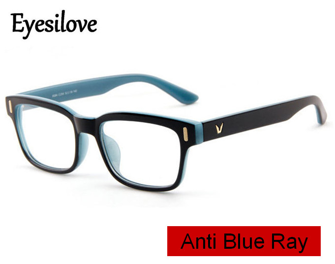 Eyesilove men Anti-blue ray myopia glasses blue light blocking filter computer eyeglasses prescription glasses -0.50 to -6.00