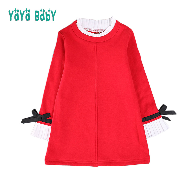 2 3 4 5 6 7 8 9 10 Year Girls Dress 2018 New Casual Cotton Kids Dresses for Girls Long Sleeve Children Princess T-shirt Clothing 2 3 4 5 6 7 8 years girls dress thick velvet autumn winter kids dresses for girls ruffles long sleeve children princess clothing