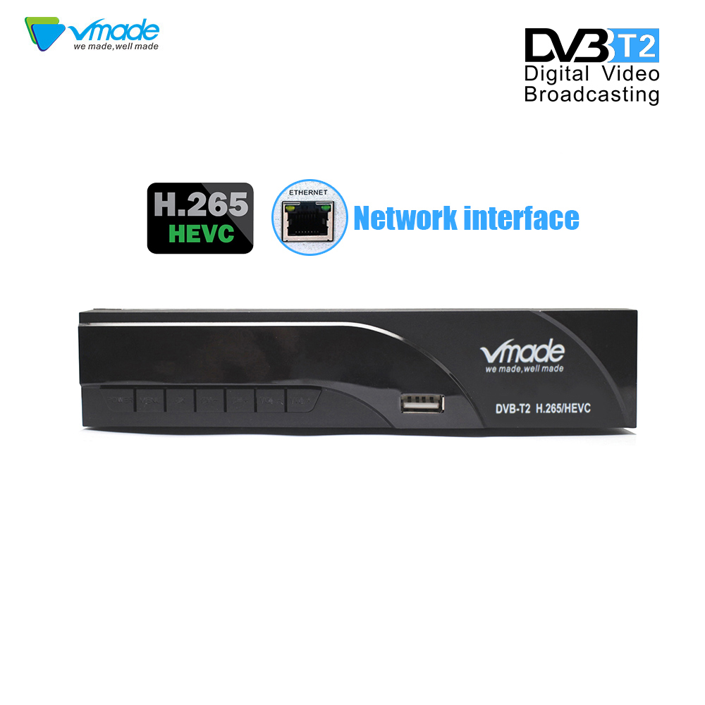 Image 3 - Vmade newest DVB T2 digital receiver H.265/HEVC DVB T2 hot sale Europe DVB T h265 hevc Support Dobly AC3 USB WIFI with RJ45-in Satellite TV Receiver from Consumer Electronics