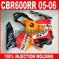7gifts Injection Molding parts for HONDA CBR600RR 2005 2006 CBR 600 RR fairings 05 06 repsol aftermarket fairing bodywork kits