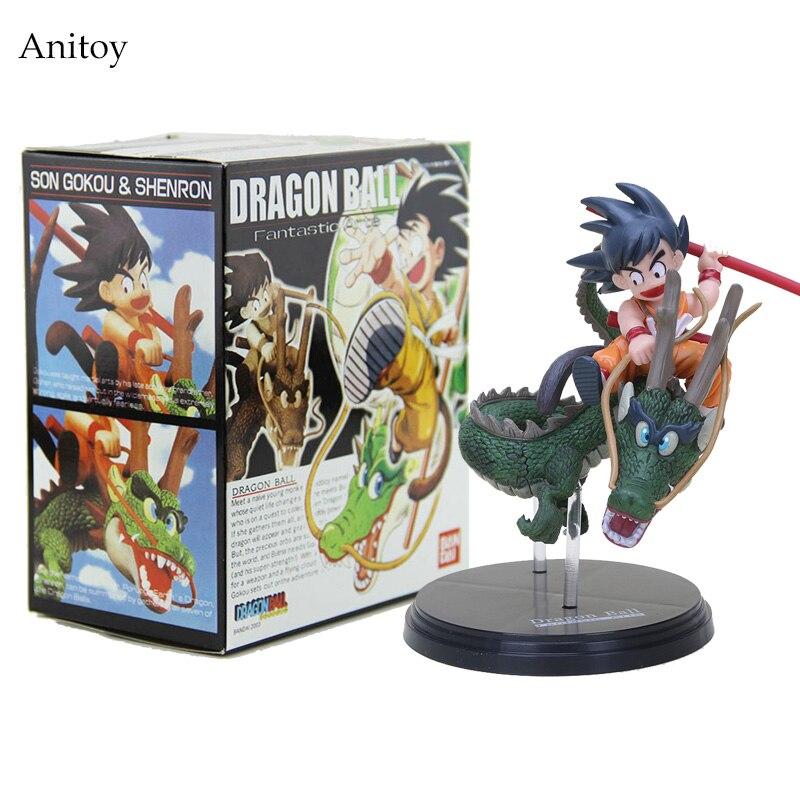 14cm Dragon Ball Z Super Saiyan Goku with Dragon Riding PVC Action Figures Collection Model Toy Doll GB003