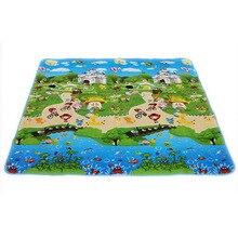 150 * 180 cm caliente venta del bebé juguetes de doble cara de espuma estera del juego, alfombra alfombra infantil piso carta animal paradise seguridad, Kids Climb manta