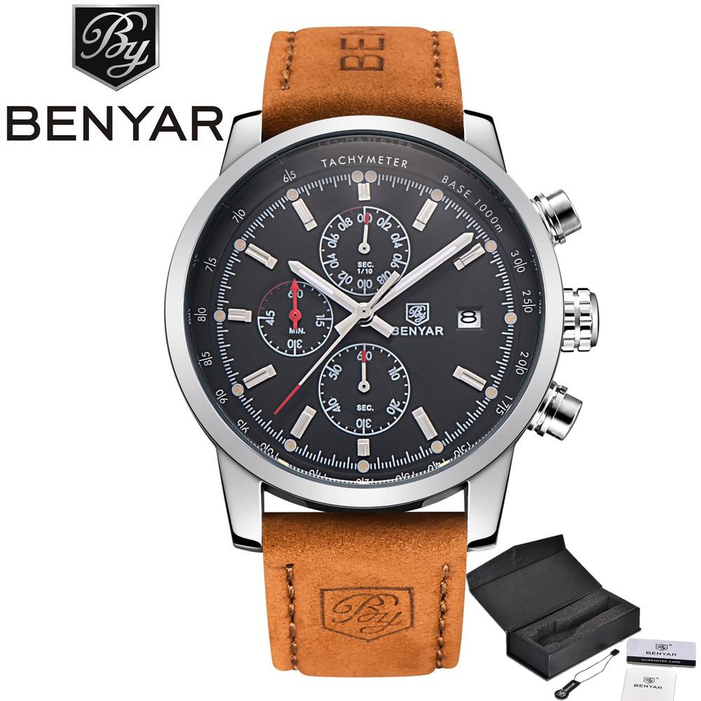 Men watches Luxury Brand BENYAR Sports Watch reloj hombre Military Multifunctions Waterproof Quartz Watch relogio masculino