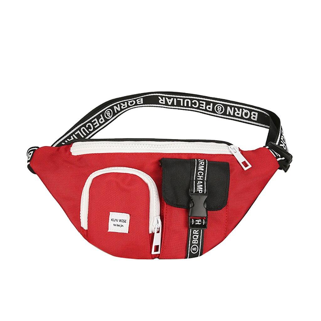 Woman Man Bag Unisex Outdoor Students Sport Canvas Crossbody Chest Phone Nerka Saszetka Fanny Packs 2019 Bolsa Cintura