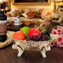 Современные Америка стиль керамические фрукты высокого качества с фруктами Ваза универсальная плиты европейской классической роскоши декоративная тарелка