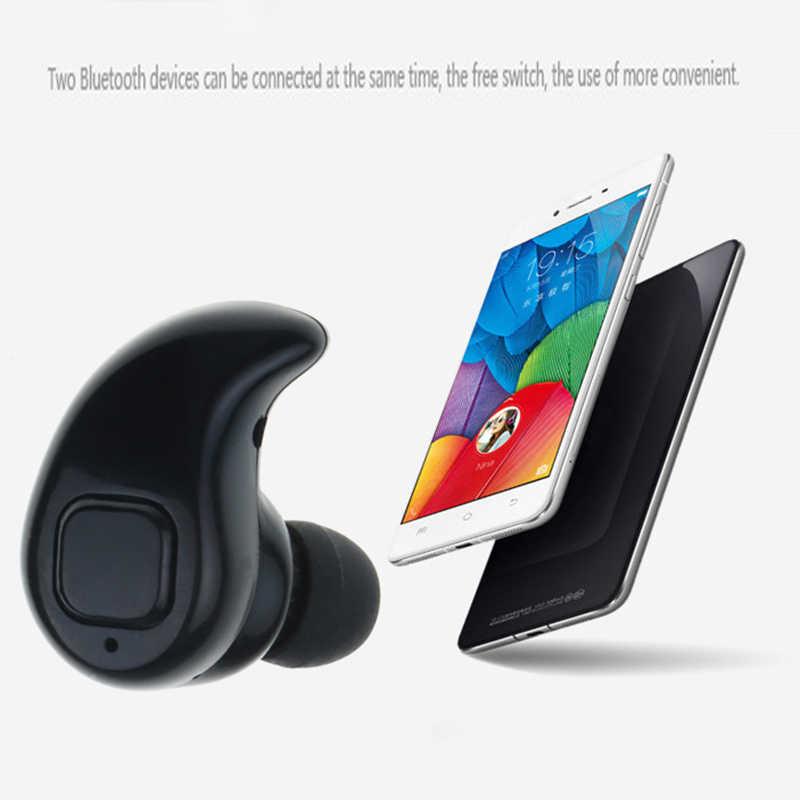 Kebidu S530X بلوتوث لاسلكي مصغر سماعة ستيريو سماعة رياضية مع ميكروفون في الأذن يدوي للهاتف آيفون شاومي