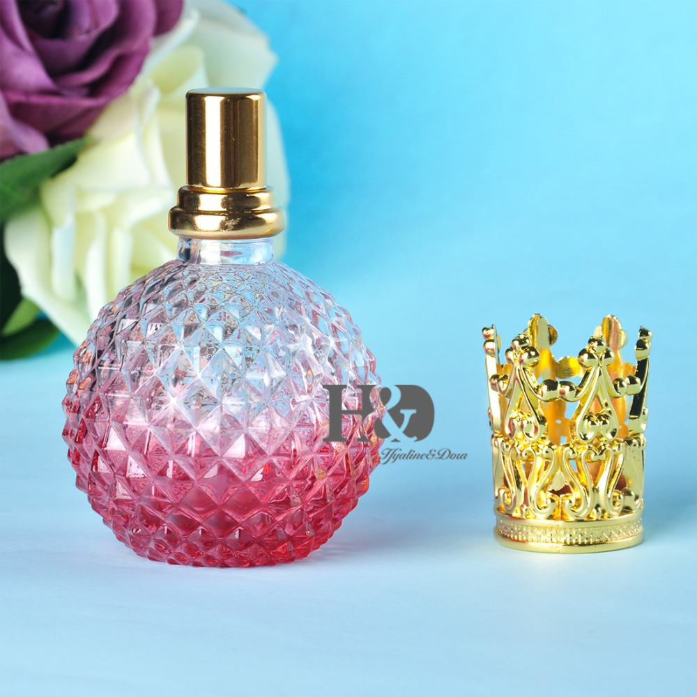 110ML Empty Red Perfume Bottle With Gold Capsule Refillable Perfume Glass Bottle empty death