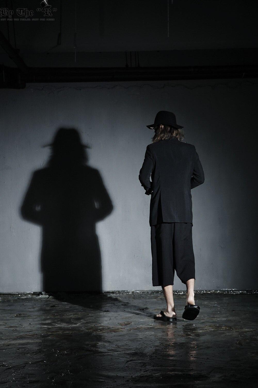 US $22.99 8% OFF|Sommer Neue Männer Kurze Hose Mode Beiläufige Lose Harem Hosen Hosen Männliche Straße Schwarz Punk Stil Breite Bein Hose K985 in