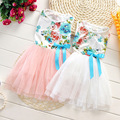 2016 summer fashion new baby beautiful girl children ball dress lace + cotton material 5 colors at the age of 0-2 Free shipping