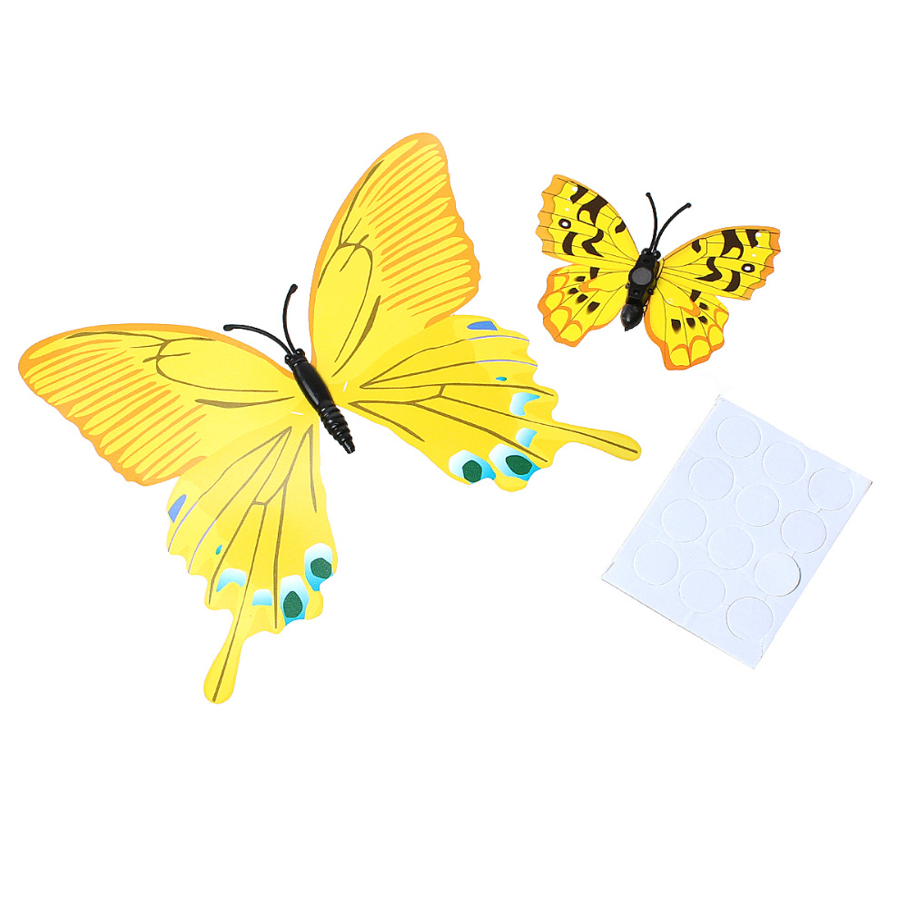 12 Pcs / Set 3D Butterfly Fridge Magnets Wall Stickers Home ...