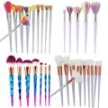 10pcs/Set Unicorn Blending Brush Eye shadow Foundation Makeup Kit Soft Rainbow Hair Cosmetic Make Up Brushes Pincel Unicornio