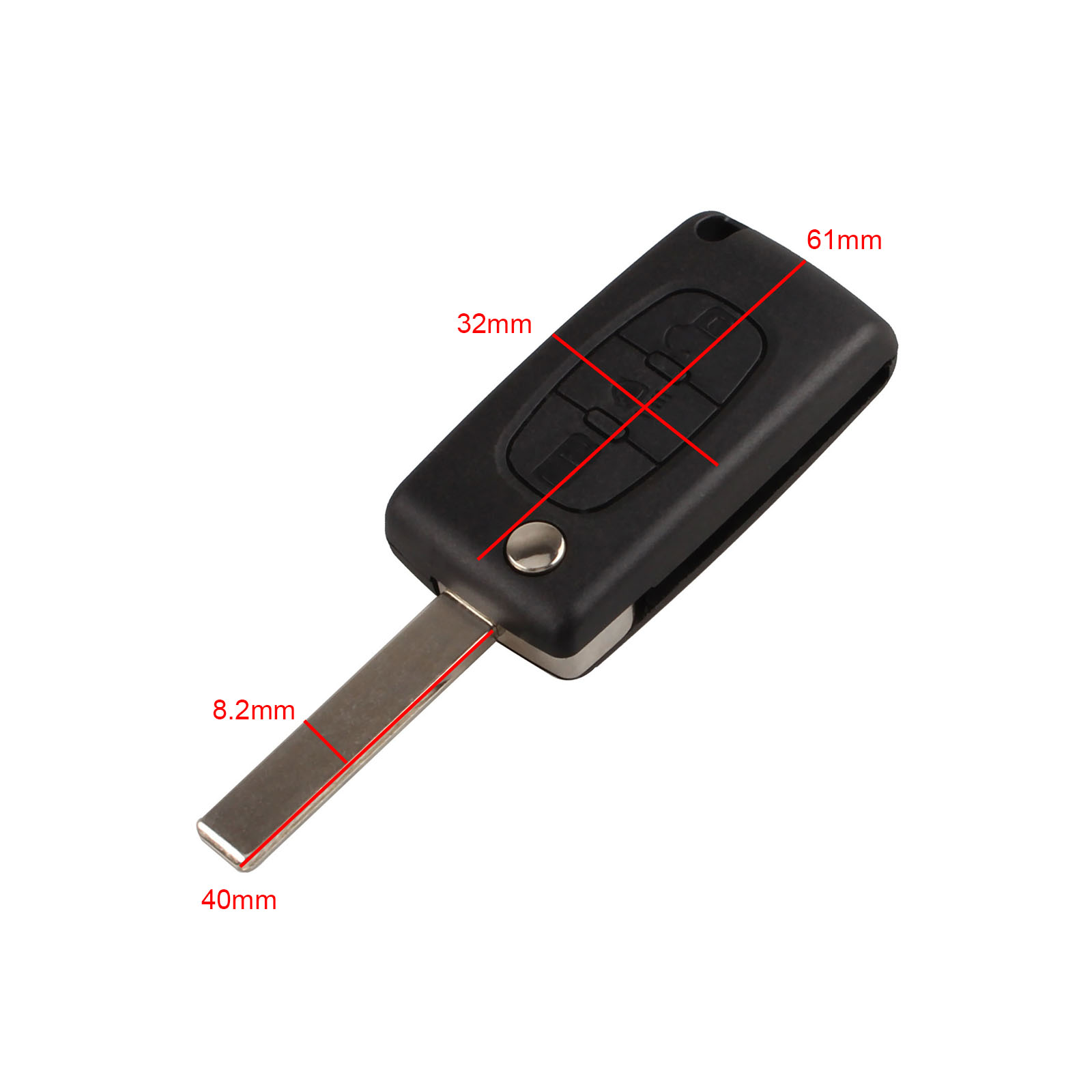 Image 4 - 3 Buttons Auto Flip Folding Remote Entry Key Shell Case Cover Replacement Car Key Fob For Citreon C2 C3 C4 C5 C6 Blank Blade-in Car Key from Automobiles & Motorcycles