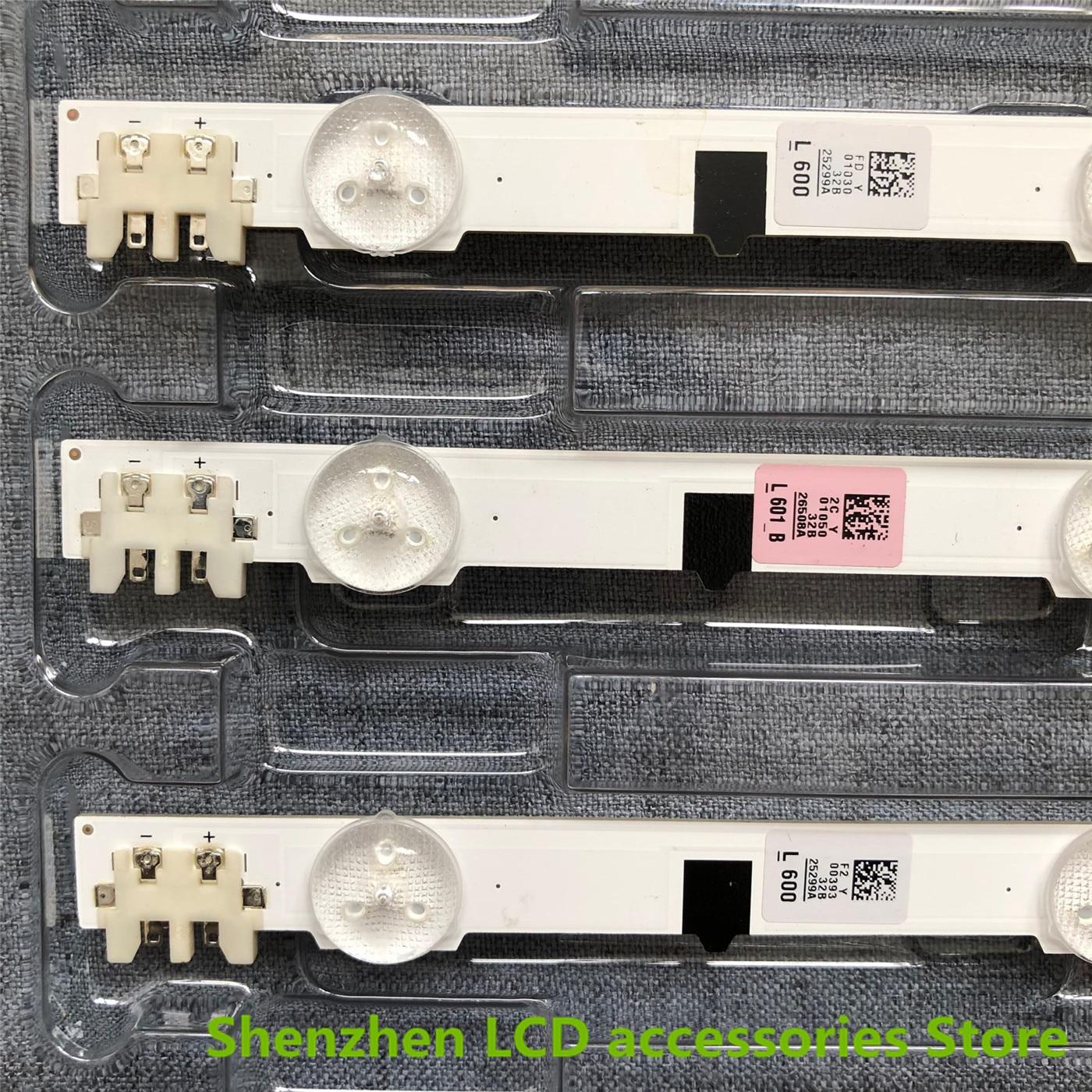 5pieces/lot  New UA32F4088AR CY-HF320AGEV3H UE32F5000 UA32F4000AR LED Strip D2GE-320SC0-R3 2013SVS32H 9 LEDs 650mm
