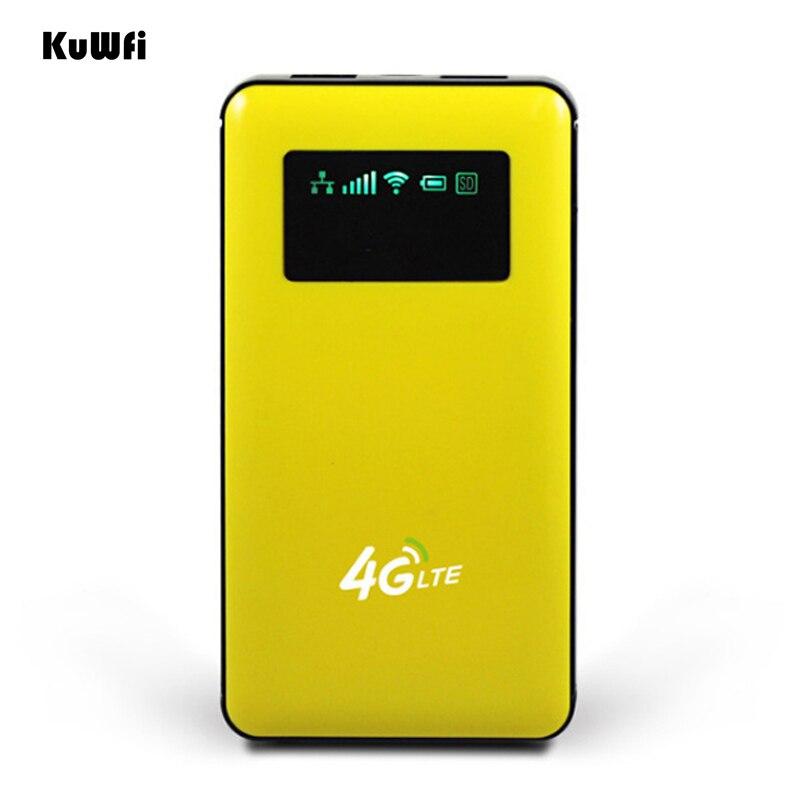 Débloqué 6000 mah Puissance Banque Sans Fil Routeur 4g LTE Wifi Routeur Sans Fil AP Mobile Wifi Hotspot Avec SIM Carte fente RJ45 Port