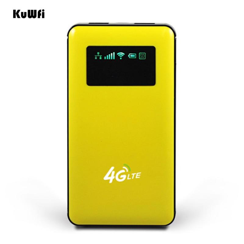 Sbloccato 6000 mah Accumulatori e caricabatterie di riserva Router Wireless 4g LTE Wifi Router Wireless AP Mobile Wifi Hotspot Con Slot Per SIM Card RJ45 Porta