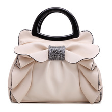 Women Top-Handle Bags PU Leather Bow Flowers Shoulder Bag Hot Sale Famous Brands female Hand Bags TQD108