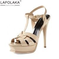 LAPOLAKA Brand New Shoes Women Fashion Platform Women Shoes Super Thin High Heels Sexy Party Wedding