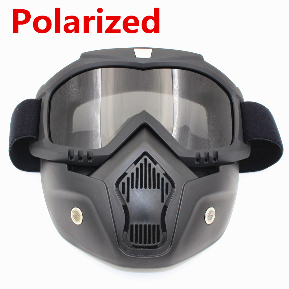 Polarized Cycling Face Mask Winter Sports Ski Snowboard Eyewear Wind Stopper Face Mask Bicycle Motorcycle Goggles Bike Glasses