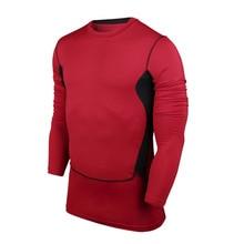 Fitness Men Long Sleeve Basketball Running Sports T shirt Men Muscle Bodybuilding Gym Compression Tights Shirt S-XXXL