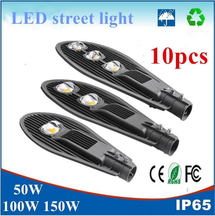 10PCS COB Led Street light Led Garden Lamp 50W 100W 150W AC85-265V Waterproof IP65 Outdoor lighting Warm White/White