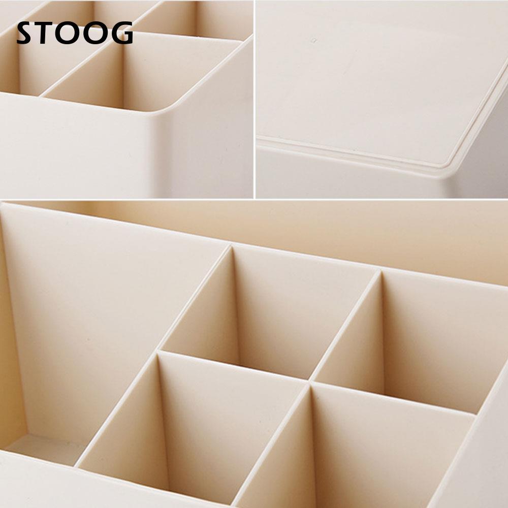 Convenient Small Objects Container Desktop Storage Box Remote Control Holder Plastic Bathroom Plastic Storage Box Cosmetics Box