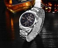 Quartz Wristwatches Men S Wrist Watch Week Display Genuine Leather Strap Mens Wrist Watches Luxury Design