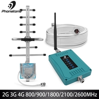 2G 3G 4G Cellular Amplifier 800/900/1800/2100/2600/MHz Cellular Signal Booster GSM Repeater Amplifier Mobile GSM 3G 4G Repeater