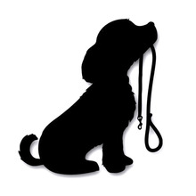 Car- stying  12*13CM Car Styling Loyal Male Dog Small Animal Shapes Motorcycle Accessories Stickers Jdm