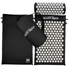 Body Pain Relieve Stress Tension Acupuncture Cushion Mat Yoga Lotus Spike Acupressure Mat Pillow Set w/ Carry Bag