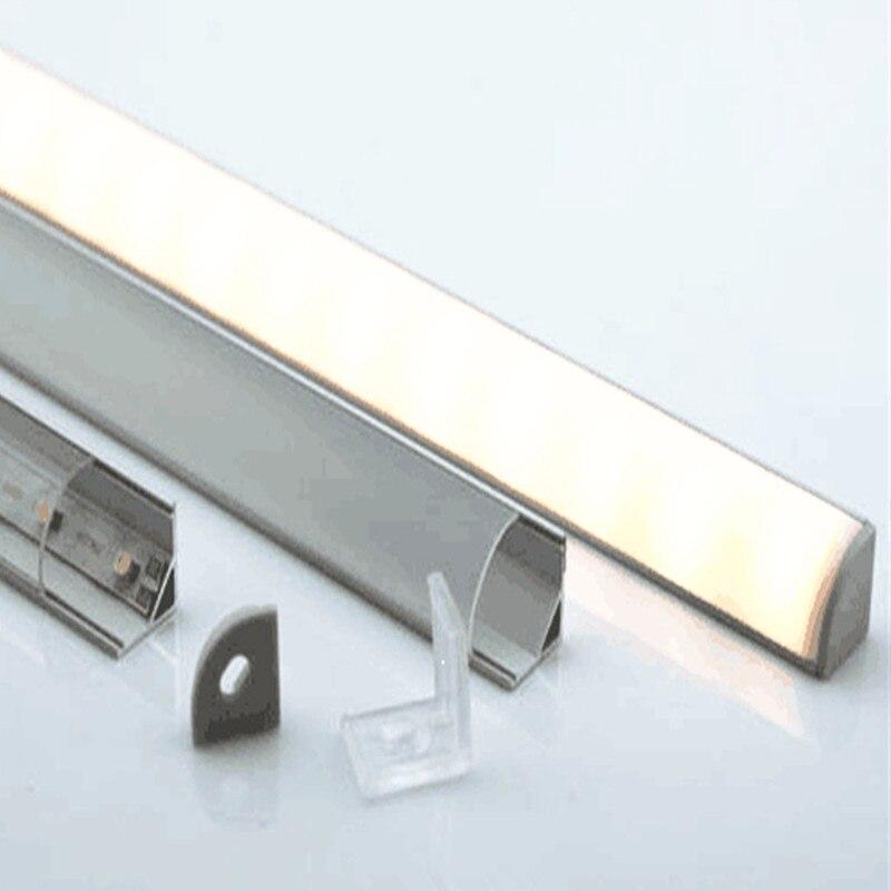 5-15 pcs/lot, 40 pouces 1 m profilé d'aluminium led pour 10mm PCB conseil conduit canal d'angle pour 5050 bande barre de led lumière, YD-1002