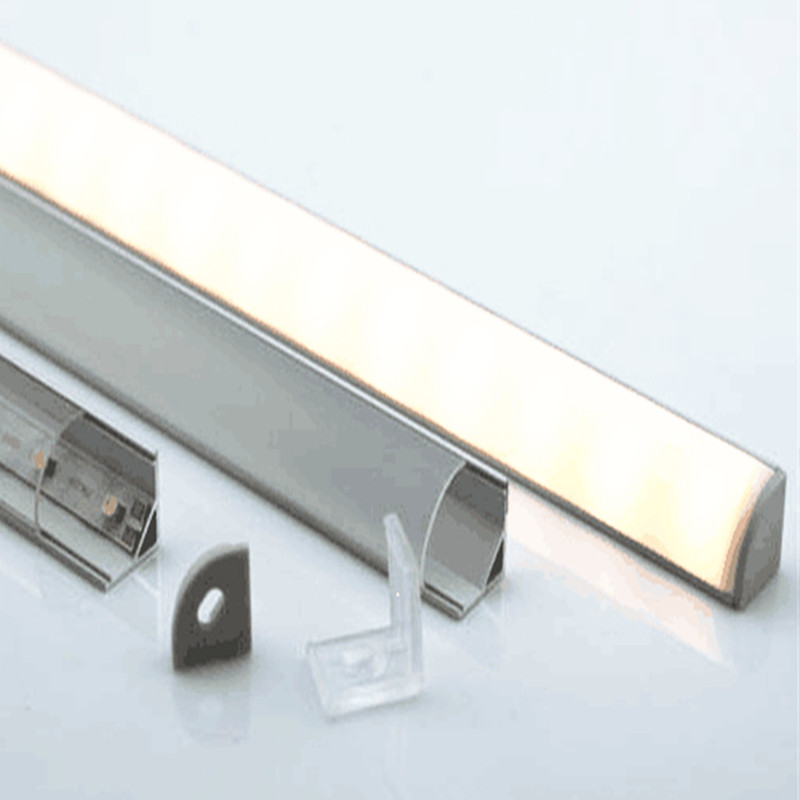 5-15 pz/lotto, 40 pollici 1 m led in alluminio profilo 10mm PCB board led angolo di canale per 5050 strip led bar luce, YD-1002