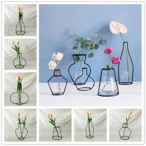 Nordique minimaliste abstrait Vase lignes noir A fer Vase fleur Vase séché fleur Vase décoration maison