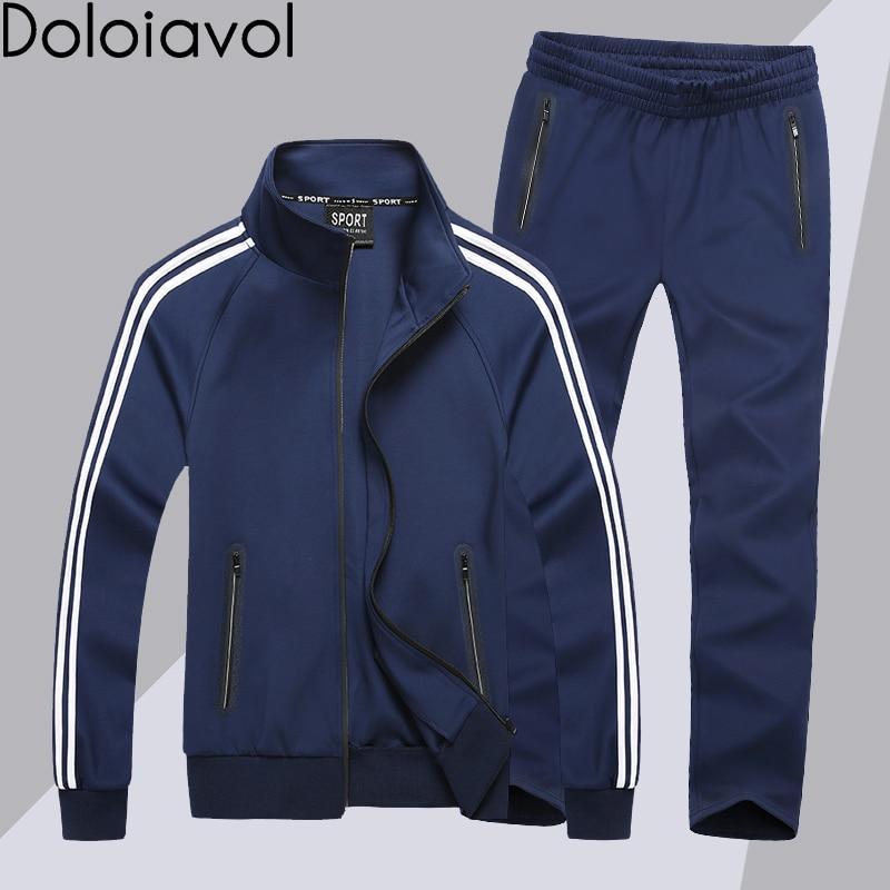 Sportwear Tracksuit Men Sweat Track Suit Two Piece Mens Set Sports Suits Joggers Top and Pants Plus Size 8XL Conjunto Masculino