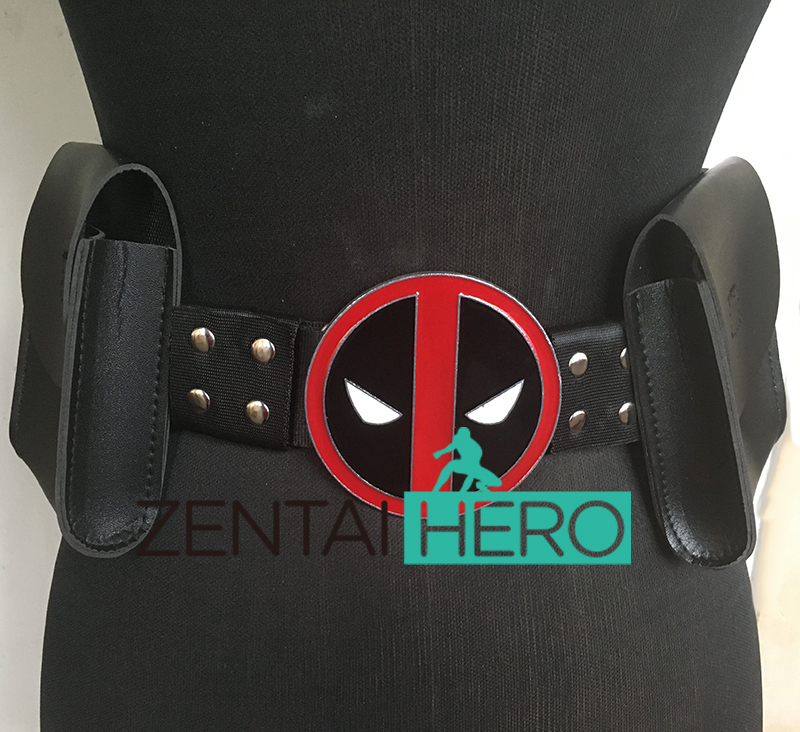 Free Shipping Wholesale Free Size Adult Cool Leather Deadpool Suit Belt In Two Style For Halloween Party Costume Belt BE1437