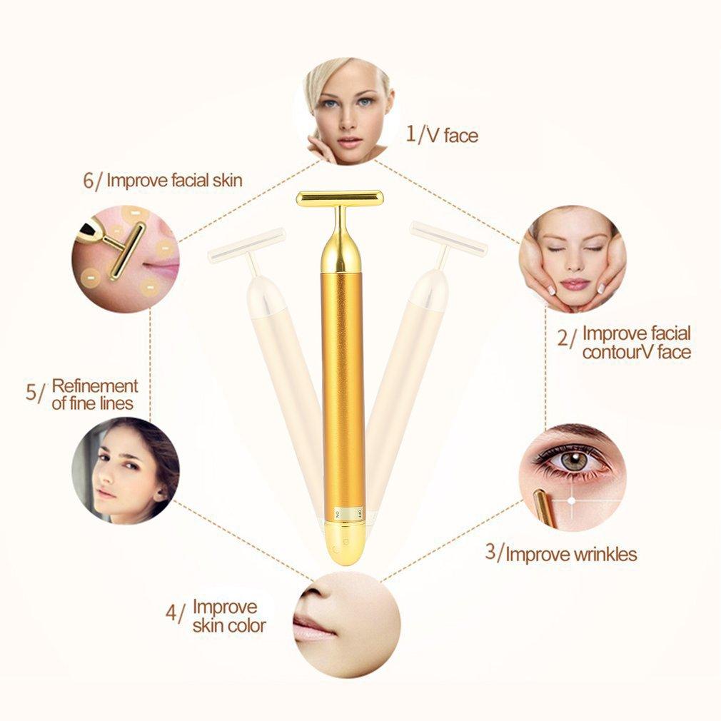 Водонепроницаемый массажер для красоты, массажер Т-образной формы, подтягивающий кожу лица, укрепляющий, против старения, средство для удаления морщин и мешков для глаз