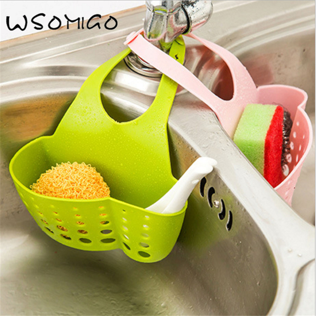 Acessórios de cozinha Bolso Duplo Ventosa Cremalheira Sabão Esponja Escorredor Coador de Drenagem Cesta De Armazenamento ferramenta Da Cozinha Gadget. s