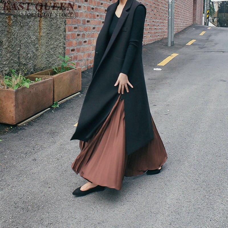 طويلة سترة للنساء الإناث الخريف الشتاء الأزياء 2018 صدرية السيدات طويلة الدافئة سترة الإناث جاكيت بلا إكمام النساء AA2888-في سترات وصدريات من ملابس نسائية على  مجموعة 1