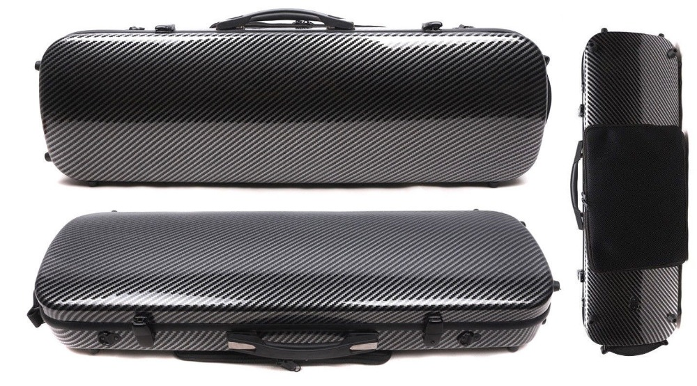 Yinfente 4/4 Violin Case Box Black Mixed Carbon Fiber Oblong Case Strong Light 2.1kg Music sheet bag Full size yinfente 4 4 violin case box black mixed carbon fiber oblong case strong light 2 1kg music sheet bag full size