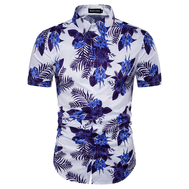 Porcelain New Stamp Personality Casual Shirts Desgin Print Floral 54ARjL