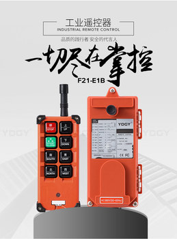 F21-E1B(include 1 transmitter and 1 receiver)/6 buttons Hoist crane remote control wireless radio switch