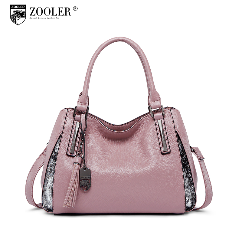 ZOOLER 2018 NEW women leather bag genuine leather bags handbags woman famous brand top handle luxury bolsa feminina #h105 hottest new woman leather handbag elegant zooler 2018 genuine leather bags top handle women bag brand bolsa feminina u500